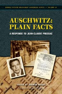 Rudolf, Germar (ed.): Auschwitz: Plain Facts. A Response to Jean-Claude Pressac